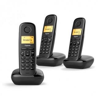 Teléfono inalámbrico Gigaset A170 Trio negro