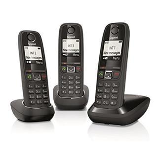 Teléfono inalámbrico Gigaset AS405 Trío Negro