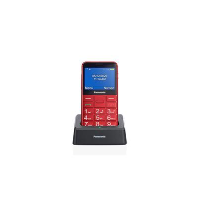 Teléfono móvil Senior Panasonic Kx-Tu155exrn rojo