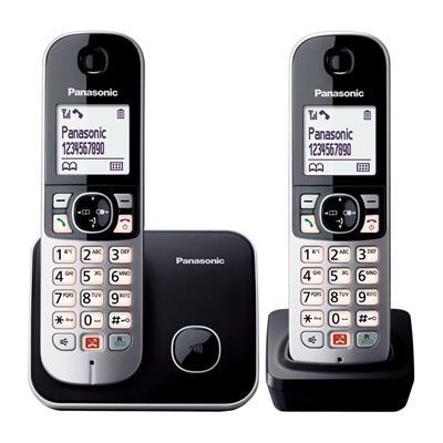 Teléfono Panasonic Kx-Tg6852spb Dect Duo ...