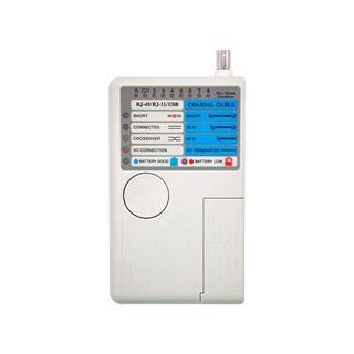 TESTEADOR PARA CABLE RJ11/RJ12/RJ45/USB/COAXI OUTLET