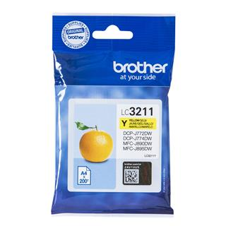 CARTUCHO TINTA BROTHER LC3211 YELLOW