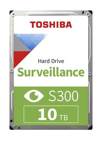 TOSHIBA S300 PRO SURVL HARD DRIVE 10TB 3.5IN P300 64MB 7200R