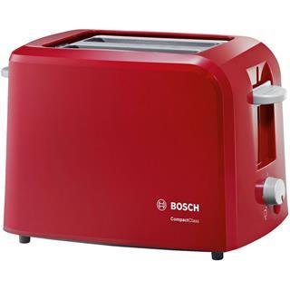 Tostadora Bosch Compact Class TAT3A014 980W roja