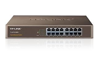 TP-LINK SWITCH 16P 10/100. 1URACK MOUNT. UNMANAGED