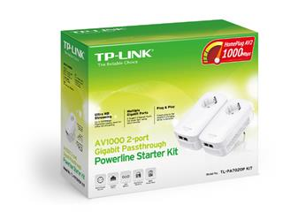 TP-LINK TL-PA7020P 2PORT GB STARTER KIT AV1000 1000MBIT/S POWERL