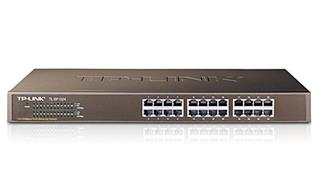 "TP-LINK TPL Switch 24P 10/100 19"" METAL"