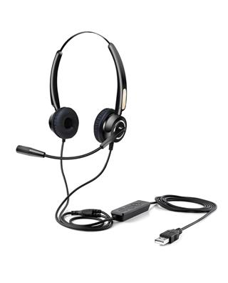 URBAN FACTORY OVER-THE-EAR USB WIRED HEADSET  ...
