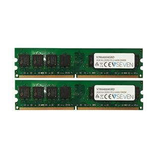 v7 2X2gb Kit Ddr2 800Mhz Cl6 Dimm Pc2-6400 1.