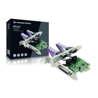 TARJETA PCI-E 1X PARALELO 2X SERIAL CONCEPTRONIC