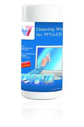TOALLITAS LIMPIEZA V7 TFT & LCD 100UNI