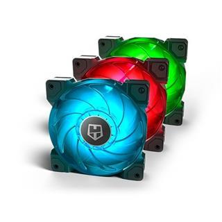 VENTILADOR 120X120 NOX HUMMER H-SYNC RGB PACK 3UDS
