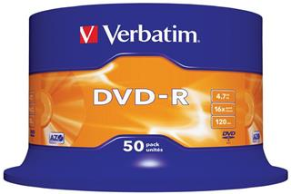 VERBATIM DVD-R 4.7GB 16X SCR. RESISTANT  50U S