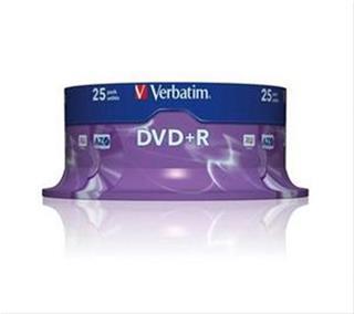 VERBATIM DVD+R 4.7GB 16X SCRATCH         25PK S