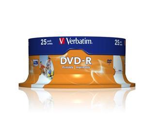 VERBATIM DVD-R X25 SPINDLE 4.7GB 16X     WIDE PRI