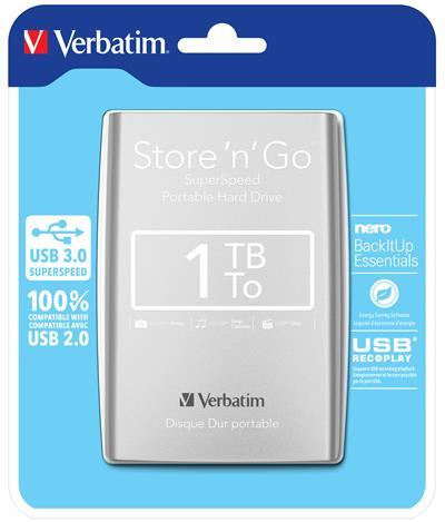 Verbatim Store n Go Portable 1TB USB 3.0 plata
