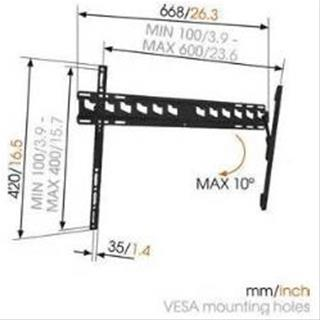 VOGEL S MA4010-B1 TILT WALL MOUNT 40-65 MAX ...