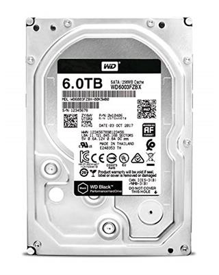 Wd HDD Desk Black 6TB 3.5 SATA 256MB